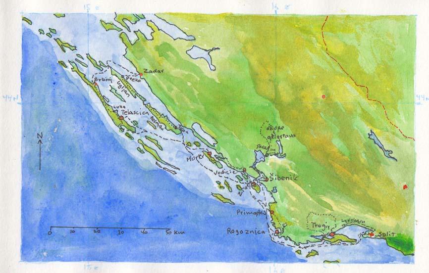 Kort Over Dalmatien
