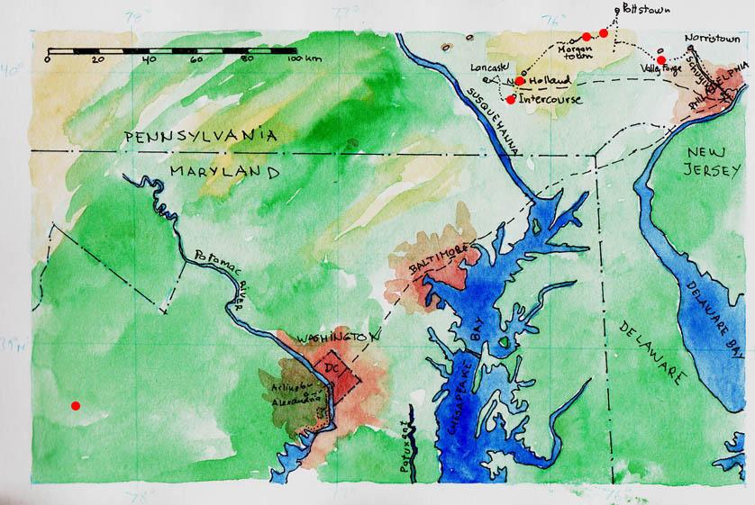 Kort Over Det Ostlige Usa