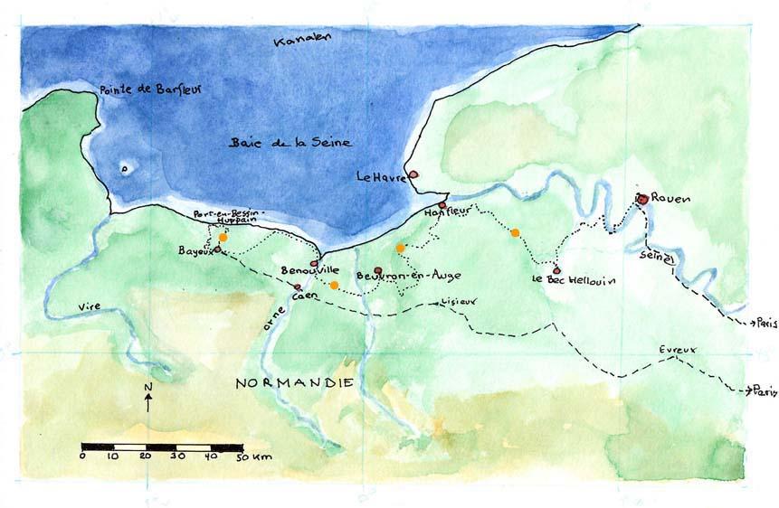 Kort Over Normandiet
